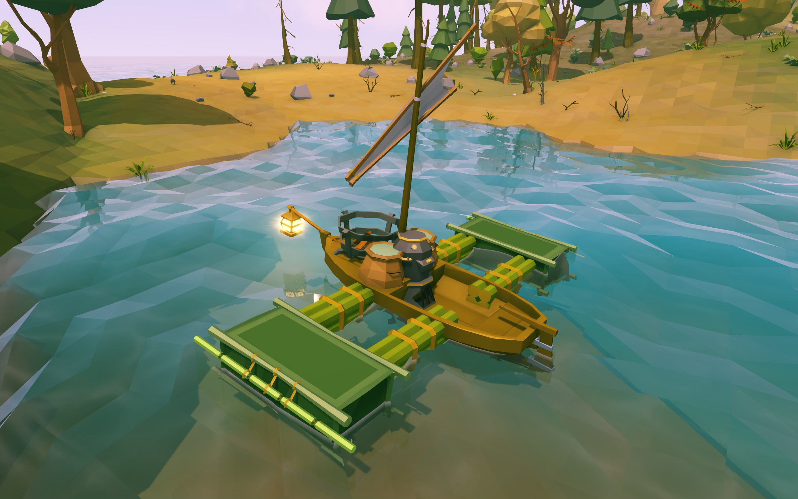 The Total Survivor Trimaran Boat - Community Creations - Ylands